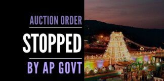 Reacting to public backlash, the Andhra Pradesh government has stopped TTD from auctioning 50 lands till further notice