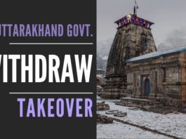 Swamy writes to the PM and urges him to direct Uttarakhand Govt. to withdraw order to takeover temples in the state
