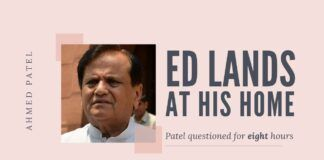 Finally, after a delay of three years, the ED landed at Ahmed Patel's house and questioned him for eight hours on his relationship with the Sandesara Group