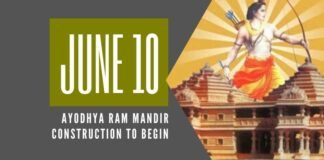 The much awaited event of the construction of Ram Mandir at the birthplace of Lord Rama is to begin on June 10th
