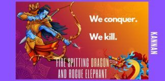 Comparing standoffs between India and China as standoffs between Elephant and Dragon because it is true that the national psyche of India and China are normally comparable to the temper and moods of elephant and dragon