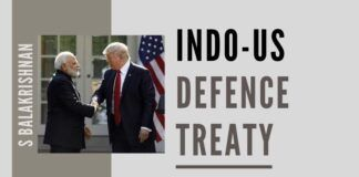 One way to halt the Chinese in their tracks is for Inda and the US to sign a Defence treaty. This will be a strategic game-changer unprecedented in the post-cold war era