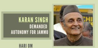 Karan Singh took up the issue from time to time during the next 13 years or so. all his efforts failed. In fact, his sincere efforts only annoyed what could be legitimately termed as the biased, arrogant, and unaccommodating Kashmir's ruling elite