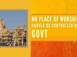 "Its time to ""Take Control"" of our temples or we will continue to be looted, plundered & destroyed. We have to work to quell this insatiable appetite of the government"