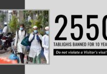 India sends a clear message to the world - 2550 Tablighi Jamaat members banned for violating Visitor's visa rules