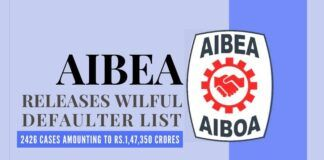 The AIBEA on Saturday released the list of willful defaulters who owe Rs.1,47,350 crore to public sector banks