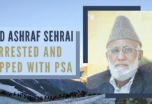 Along with Mohd Ashraf Sehrai, at least one dozen members of the separatist camp were picked up by the police from different areas of the city