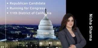 Nisha Sharma, the Republican candidate for Congress from the 11th district of California on why she wants to run for Congress, what the real issues her constituents are seized with and how she can make a difference. Please donate to her campaign at https://www.nishaforcongress.com/ Each individual can donate up to $2800.