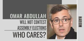What can one say about Omar Abdullah for not contesting Assembly elections decisions? He is his own master and it is his choice.