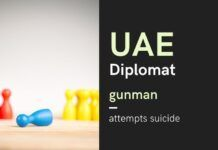 The role of the UAE diplomat in the smuggling of gold comes into question as his gunman attempts suicide