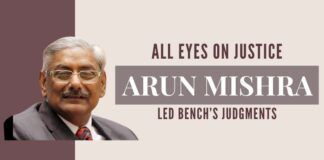 Justice Arun Mishra has to deliver judgments on the controversial Telecom AGR dues payment case and on lawyer Prashant Bhushan for the COC charges on August 31 and September 1