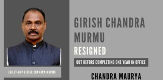 Friction between bureaucracy led to the exit of J&k LT-Gov Girish Chandra Murmu