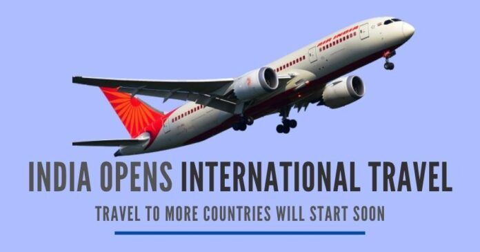 "India's Civil Aviation Ministry has entered into an ""air bubble agreement"" with the USA, UK, Germany, and France for international travel"