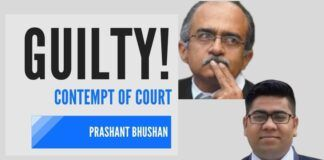 Prashant Bhushan abuse of judiciary because of his clout has now run out and SC has held him in contempt of court