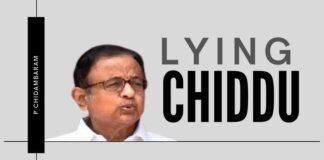 Chidambaram tries to build a castle of lies, only to see it blown away by the wind