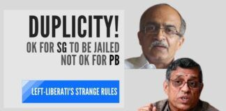 The Left-Liberati crying for Prashant Bhushan who was found guilty of Contempt of Court. But where were they when Gurumurthy was facing two contempt charges for criticizing Justice Muralidhar?