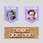 Olaf Palme-Rajiv Gandhi quid pro quo