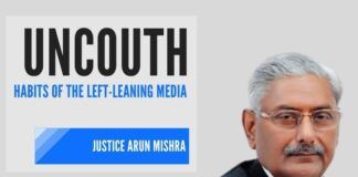Left-Liberati's habit of spewing venom at the judiciary that does not toe their line is evident at the way they are attacking Justice Arun Mishra