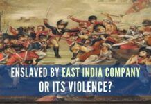 If we go through the East India Company colonization of India timeline. We get a hint that we were not enslaved by the Company. We were enslaved by violence