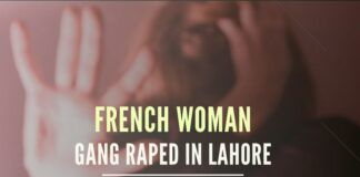 A French woman was gang-raped in front of her two children after her car broke in Lahore
