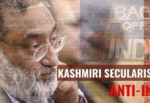 Kashmiri secularism is anti-India