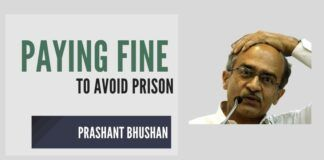 Prashant Bhushan eats humble pie, apologizes and pays Rs.1 fine to the Supreme Court