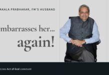 Is Parakala Prabhakar outburst at his wife another case of Ghar Ghar Ki Kahani (ఇంటింటిరామాయణం)?