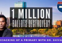 After running a hard campaign, where he crisscrossed the state of Massachusetts several times, Dr. Shiva Ayyadurai explains how a million ballots were destroyed and how the counts were manipulated.