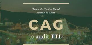 TTD Board resolves to request CAG to do a Special Audit for 2014 to 2020 and furnish a report in six months