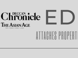 Assets of Deccan Chronicle newspaper group attached by the ED. Auction must be done quickly as many need to get paid