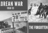 The Korean war which resulted in a win, loss, and a tie for combatants over the 3 years from 1950-53