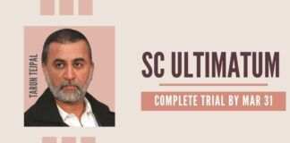 SC gave an ultimatum of March 31 to finish the trial of Tarun Tejpal for sexually abusing a young lady journo