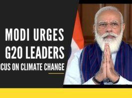 Virtually addressing the G20 summit, Modi said India's focus is on saving citizens and the economy from pandemic while keeping the pace on fighting climate change