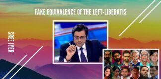 Another sleight of hand attempt by the Left-Liberati to try and equate bail of Arnab with those in gaol under UAPA