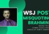 """Piketty did it - coined """"Brahmin Left"""". Now a partial plagiarism to try and fit the word Brahmin with Bailout by an author, who typically spews venom on India. In this hangout, Nikunj Trivedi, President of CoHNA, details his letter to the Wall Street Journal (WSJ), pointing out the deliberate misuse (and abuse) of the word Brahmin and goes on to say that it leads one to believe that the WSJ supports its authors who deliberately show Hinduphobia."""