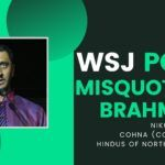 Harvard WSJ misquoting Brahmins