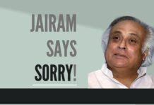 The reason Jairam Ramesh apologized is something else…