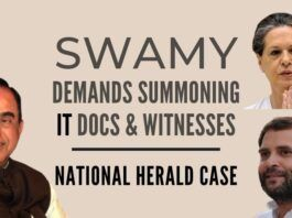 Swamy urges fast-tracking the National Herald case while Sonia-Rahul lawyers drag their feet cross-examining Swamy