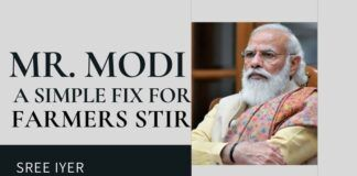 While all know that the farmers' stir is not by farmers, no one knows how to solve it. Here is a simple fix.
