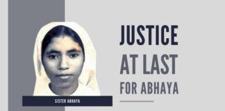 Justice, at last, for sister Abhaya.