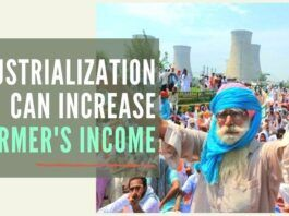 To increase farmers' income, the industrialization of India is needed, and for that to happen you need to set the entrepreneur free and give him the rule of law