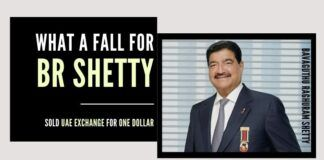 What a fall for BR Shetty, once a billionaire, now forced to cough up UAE Exchange for just one dollar!