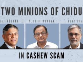 Two minions of Chidambaram named in the Cashew scam FIR, Govt. must act fast