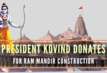 President Ramnath Kovind made the contribution to Shri Ram Janmabhoomi Teerth Kshetra for construction of Ram temple