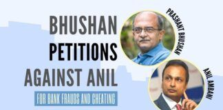 Prashant Bhushan petitioned to various govt. agencies for registering a case against debt-ridden Anil Ambani