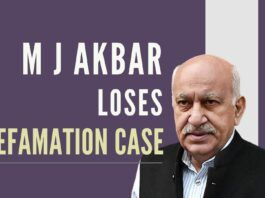 M J Akbar, former Editor and ex MoS-EA faces a setback in his career