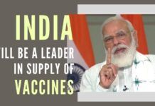 It is becoming increasingly clear that India will be a leader in the supply of vaccines to the whole world, a view reflected by Modi in his speech today on Covid