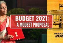 Budget 2021 : A Modest Proposal
