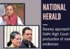 Swamy approaches Delhi HC in the National Herald case saying the trial court erred in not allowing the new evidence during the crossing stage