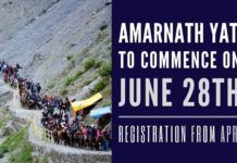 In an increasing sign of normalcy, the annual Amarnath Yatra will commence on June 28th